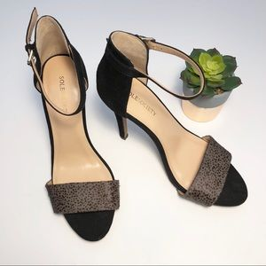 Sole Society Sheila Suede & Calf Hair Pumps Size 7